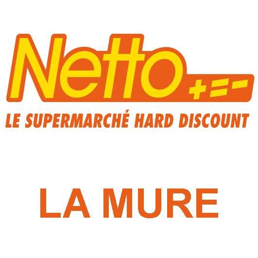 Supermarché Netto hard discount à la Mure